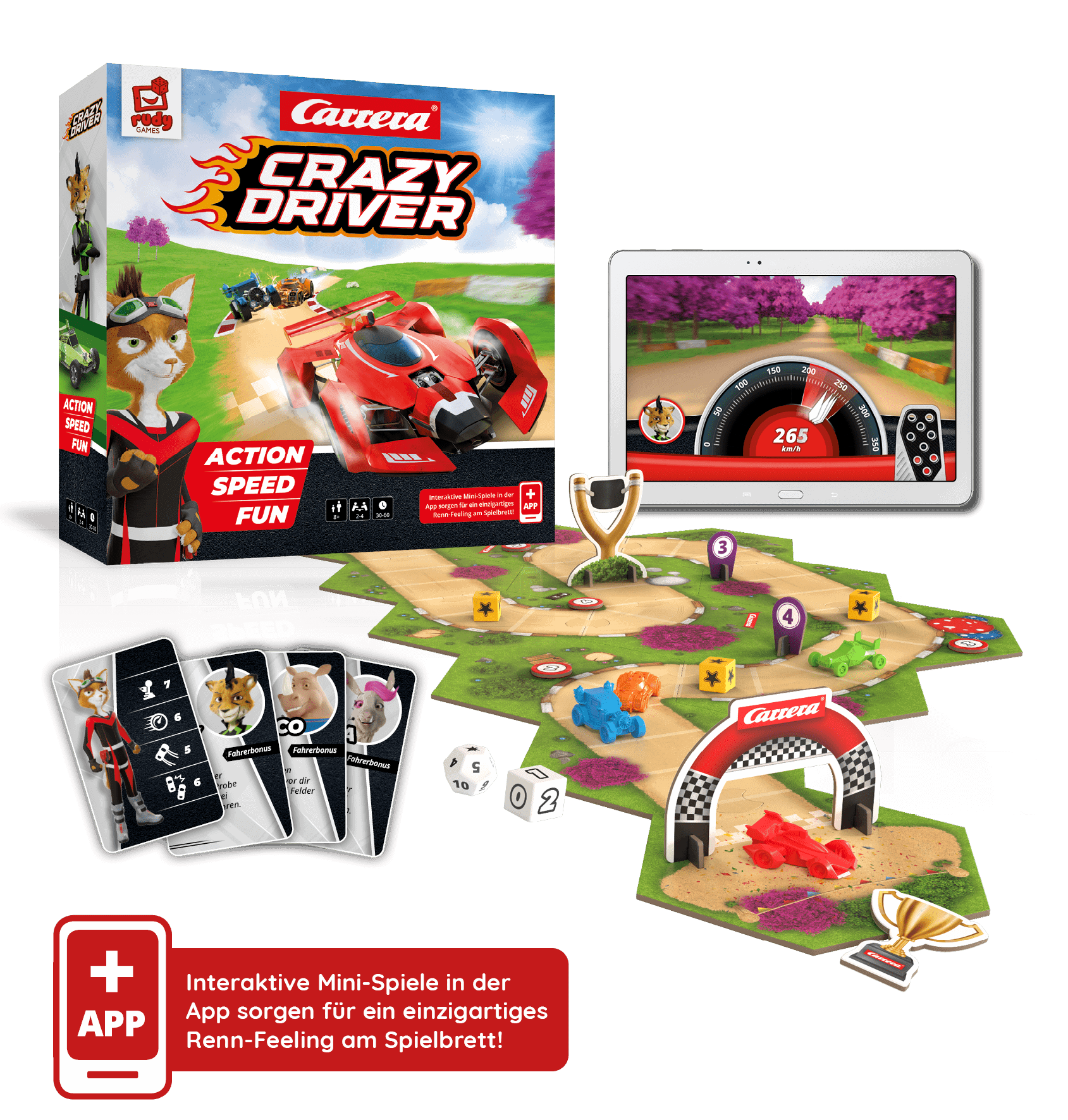 Crazy Driver Spielmaterial