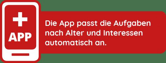 App passt sich an das Alter und Interessen der Spieler an