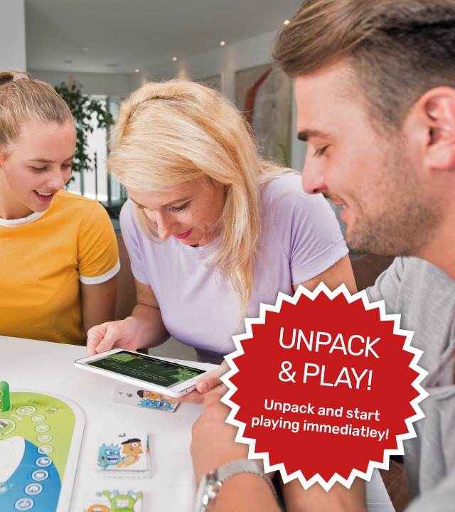 Family unpack and play party game Interaction