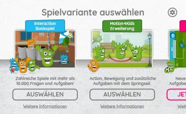 Interaction Spielvariante in der App auswählen