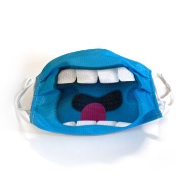 Meeb Maske blau offen