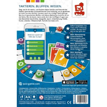 Wissensspiel Quiz It Spielbox Rückseite