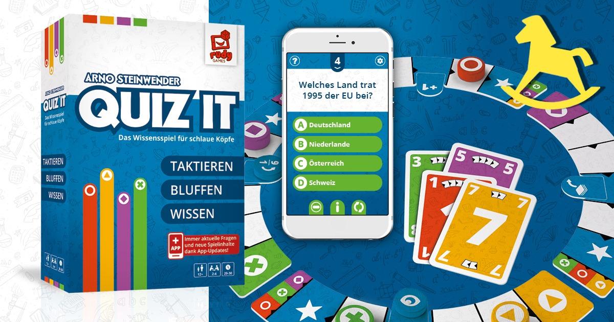 Quiz IT Spielpackung und Spielmaterial