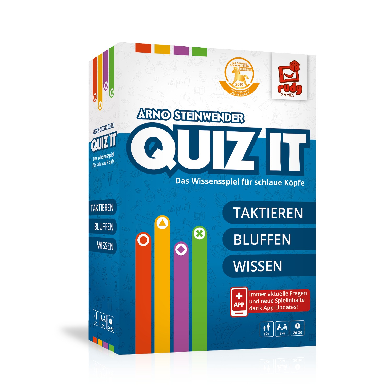 Quiz It - Das Wissensspiel für schlaue Köpfe! 3D Spielebox