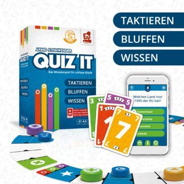 Wissensspiel Quiz It Spielmaterial Übersicht