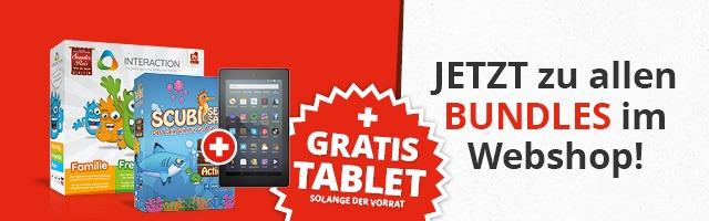 Gratis Tablet beim Kauf eines Spiele Bundles