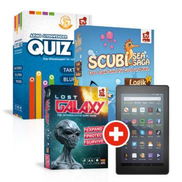 Mixed Bundle mit Quiz it, Scubi und Lost Galaxy und gratis Tablet