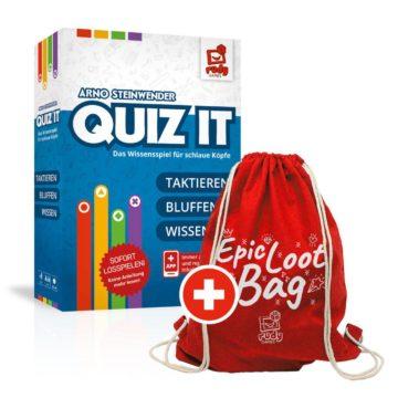 Quiz IT vorbestellung und ein Epic Loot Bag gratis dazu erhalten