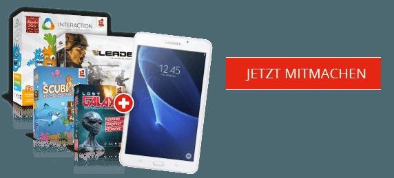 Rudy Games Gewinnspiel 2019 Samsung Galaxy Tab und Spielepaket